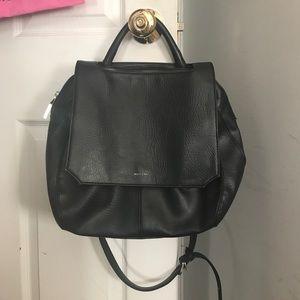 Black Matt & Nat leather cross body bag