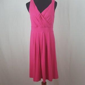 Lands end pink flare dress