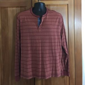 Other - Striped Long Sleeve Soft Henley