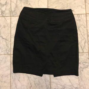 Black Mini Pencil Skirt