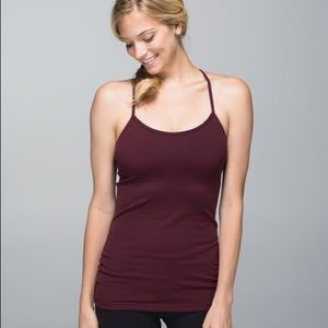 Lululemon Power Y Tank Bordeaux Drama