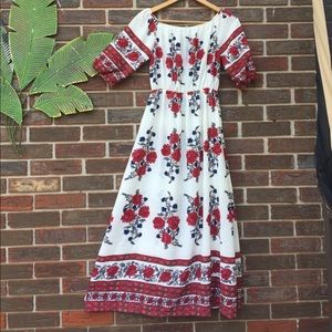 Beautiful bohemian vintage dress