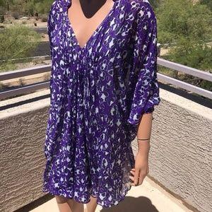 DVF 100% SILK Women's Fleurette Printed Dress
