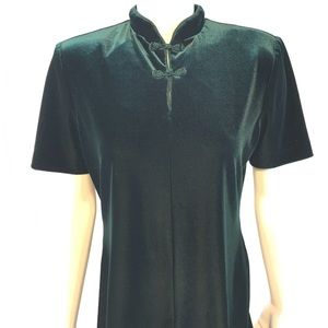 Vintage Oriental Dress size 10 Velvet 🔥🔥🔥