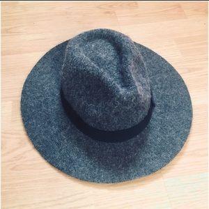 Free People Wool Flat Brimmed Hat