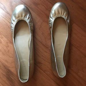 Gold JCrew Ballet Flats size 10