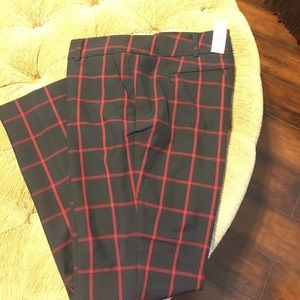 Black and red women's trousers. NWT