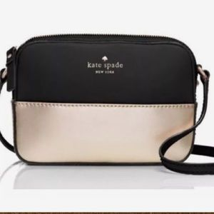BNWT Kate Spade Ivy Street Clover in Black/Gold