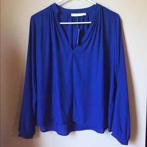 Lush royal blue long top