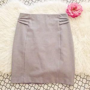 Express Gray Pencil Skirt
