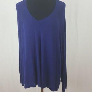 Ava & Viv plus size 1x purple sweater.