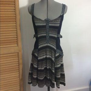 Free People knit tank dress with side buckle SZ S
