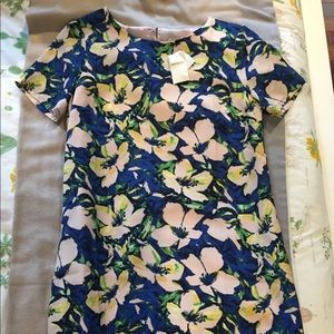 J. Crew floral shift dress
