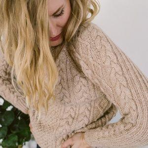 hand-knit fisherman's sweater