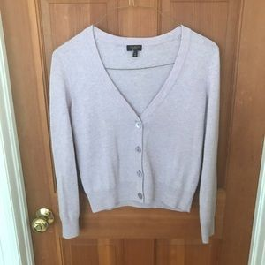 Lilac lambswool and angora button sweater vintage