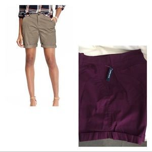 Deep Purple Plum Bermuda Shorts