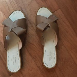Kate Spade Becky Bow Sandal, Luggage Calf/size 10