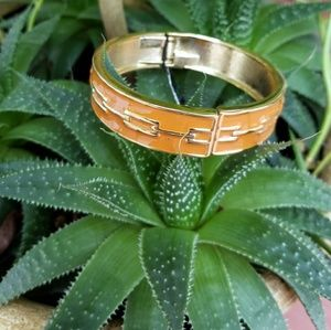 EXPRESS Gold and Orange Bangle Bracelet