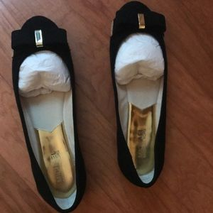 Black Suede Michael Kors Kiera Ballet Flat size 10