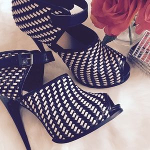 Topshop Basketweave Heels - Rare Find!!!