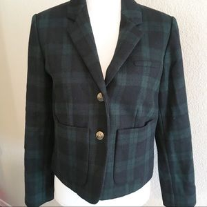 Anthropologie Cartonnier plaid jacket size 10