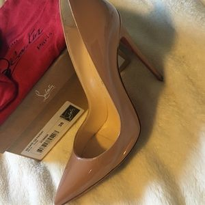 Louboutin So Kate 120 Patent Nude