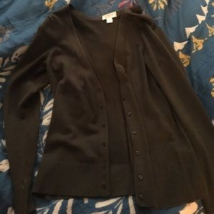 Loft By Ann Taylor Olive Green button up cardigan