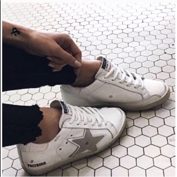 16bfea444e2 Freebird by Steven White Leather Star Sneakers 927