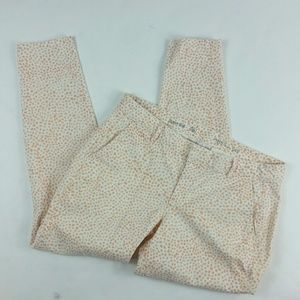 gap skinny mini khakis orange polka dot size 6