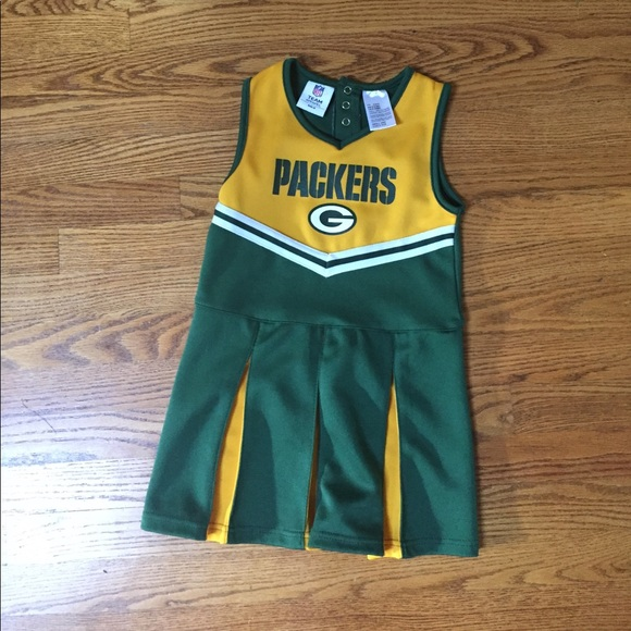 7e11d6c7 EUC Girls Green Bay Packers cheer dress size 6/6X