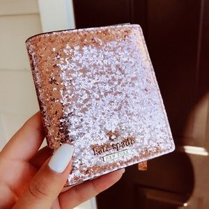 Kate Spade Rose Gold Glitter Small Wallet