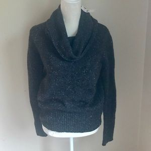 LOFT Green speckled Cowl Neck Sweater. Size L