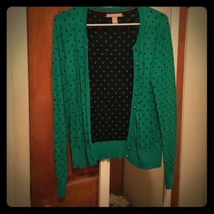 Banana Republic polka dot cardigan