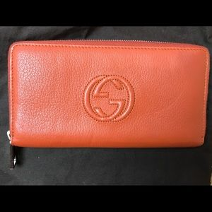 Gucci Soho Continental zip around wallet NWT