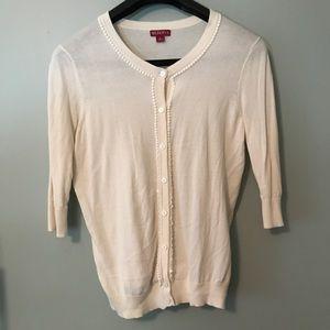 Embellished Cream Cardigan - Lg - #0033