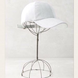 Faux suede baseball cap from Anthropologie