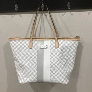 Beautiful Kate Spade grey and white w/ pink accent
