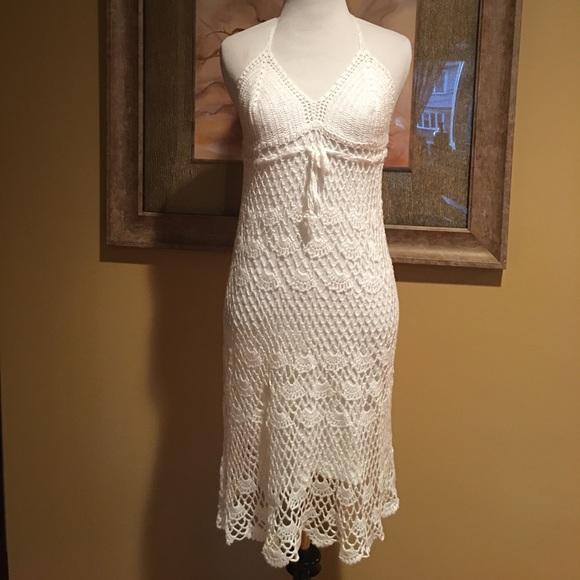 Dresses Sale Gorgeous White Handmade Crochet Dress Poshmark