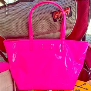 KATE SPADE Hot Pink Patent Leather Tote