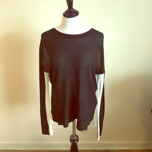 Markdown! Cute Black and off white sweater!