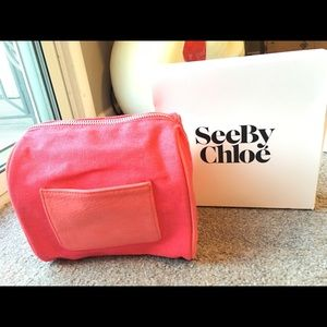 See by Chloe cosmetic make up bag pouch