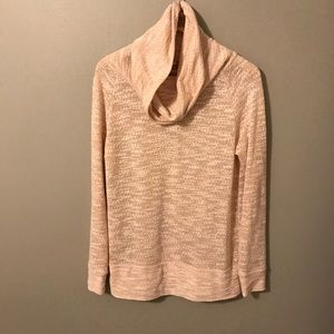 LOFT knit cowl neck long sweater