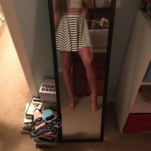 Stripped skater skirt