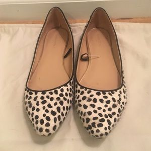 Banana Republic Calf Hair Black and White Flats