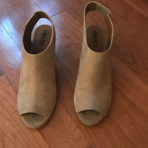 Abound Peep Toe Booties size 10