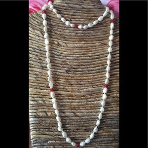 Jewelry - 🛍✨WHITE PEARL and RUBY NECKLACE🎁❤️NEW