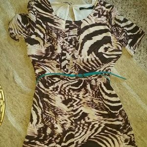Ark and Co Tiger Print Jumpsuit