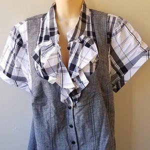 NWT Women's Vest Ruffle Top Combo