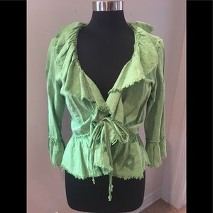 Flirty lime green tie jacket