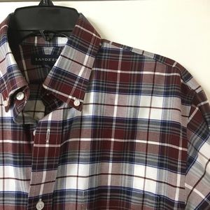 Lands End Plaid Button Down Shirt